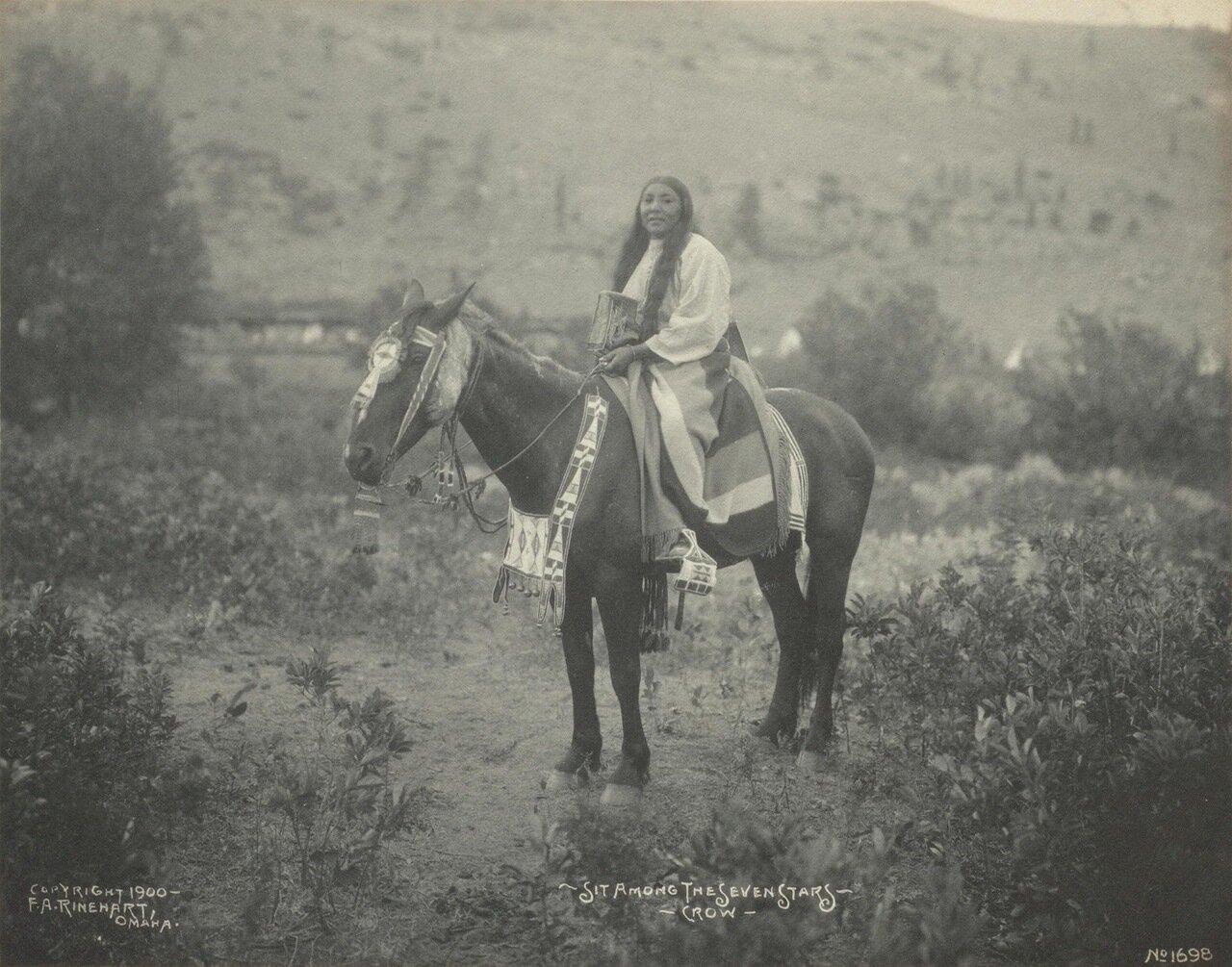 Сидящая среди семи звезд. Племя кроу. 1900