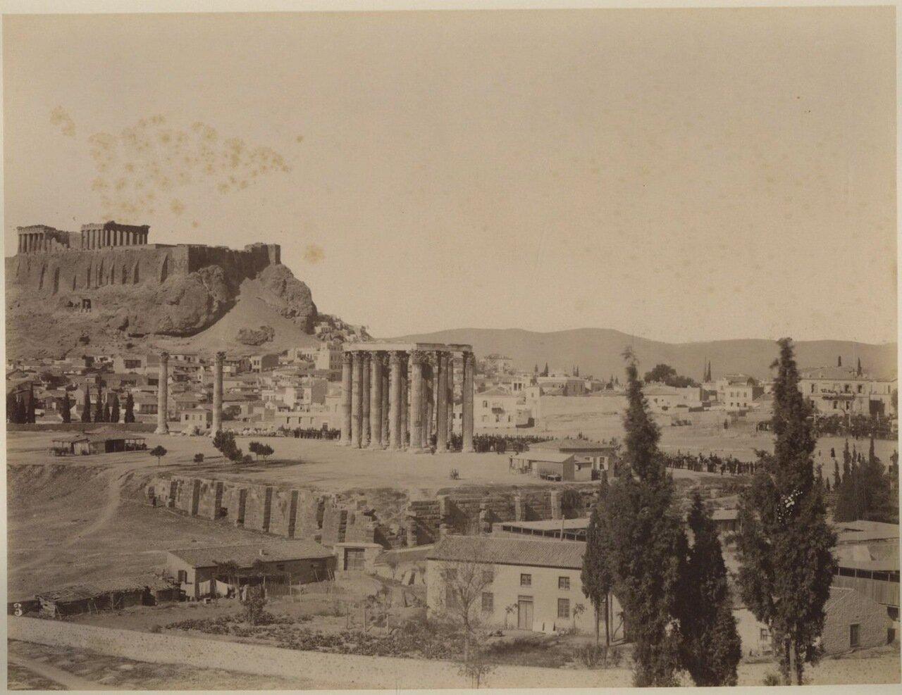 1880. Акрополь.  Храм Зевса Олимпийского