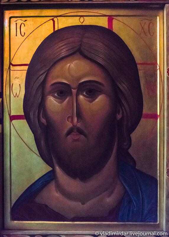 Икона Иисус Христос из иконостаса северного придела святых Кира и Иоанна Преображенской церкви в усадьбе Остров