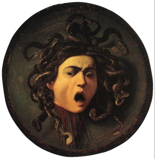 Караваджо. Горгона Медуза.1595-1596.