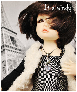 It is windy: nice black dress for tiny BJD