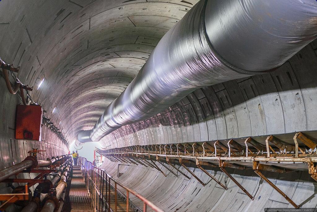 Часть построенного тоннеля «Очаково» («Озёрная») —«Мичуринский проспект»