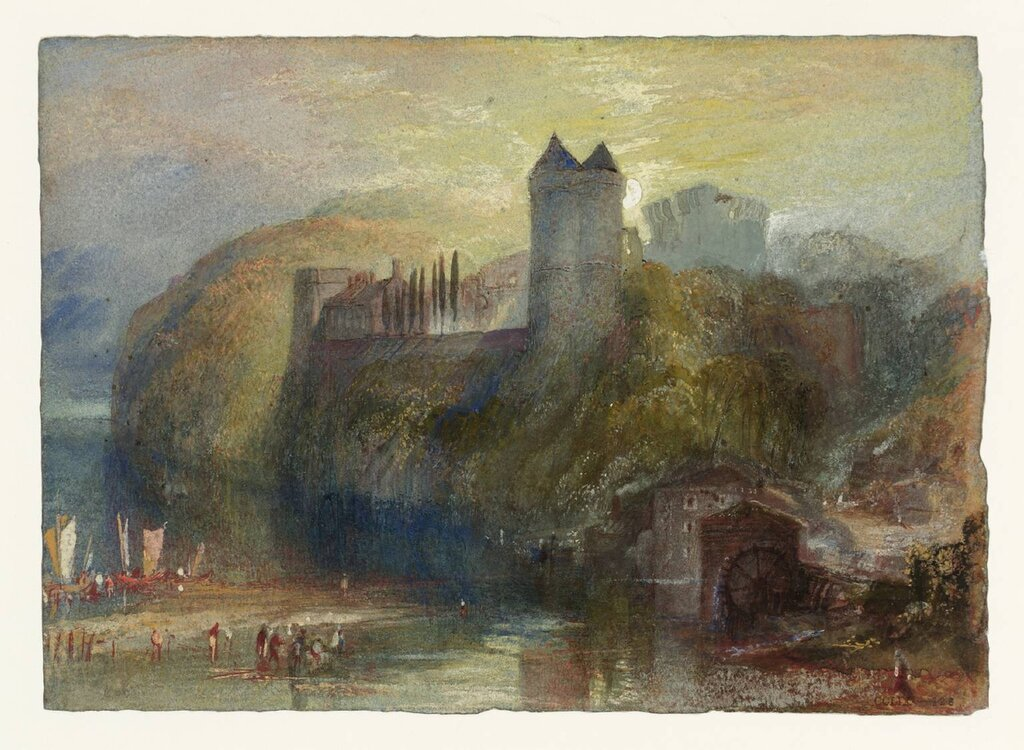 Tancarville from the East ('Front View') circa 1832 by Joseph Mallord William Turner 1775-1851