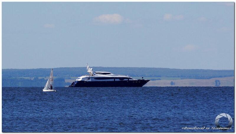 Катера и яхты на Волге. Фотовзгляд на Тольятти