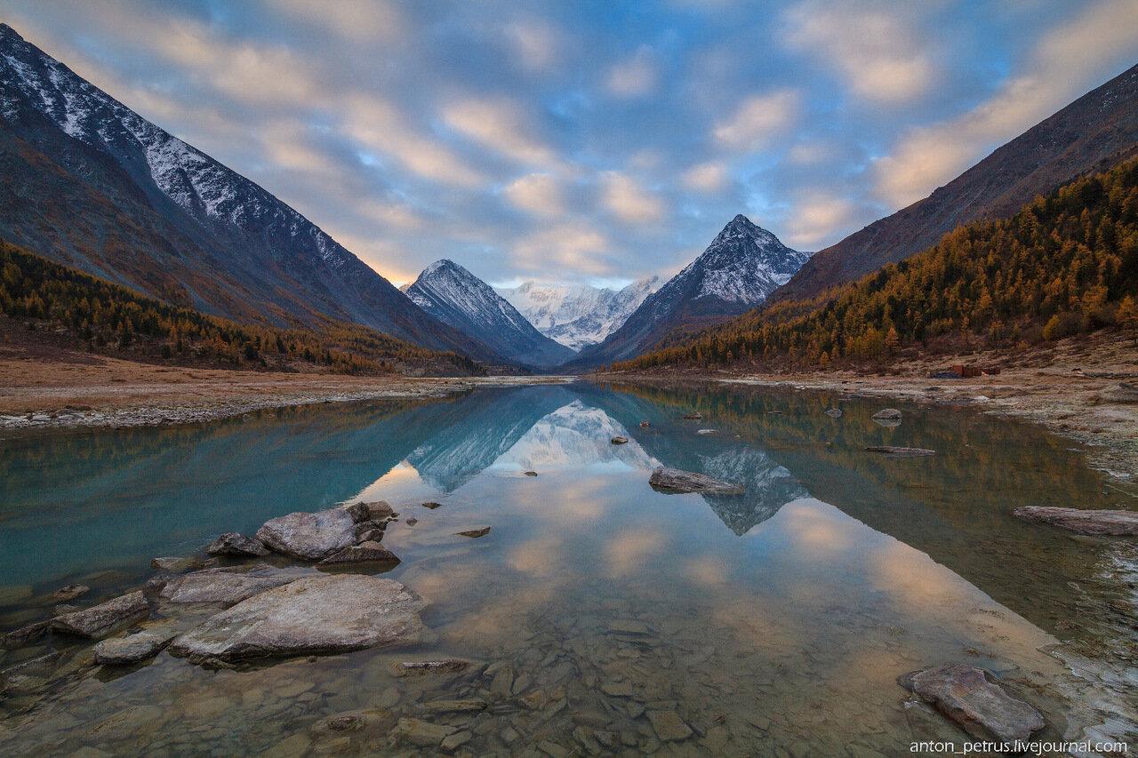 Озеро Аккем, Горный Алтай, осень