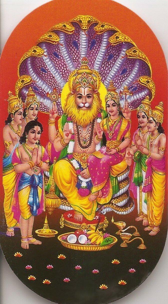 Лакшми-Нрисимха, Прахлада Махарадж и полубоги