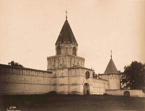 Вид на Зелёную и Юго-западную башни Нового города Ипатьевского монастыря (постройка 1642-1643 гг.) Кострома г.