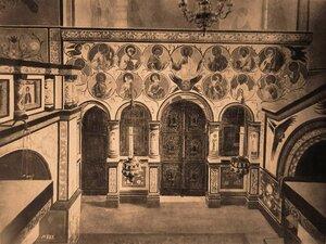 Вид иконостаса в приделе Св. Леонтия в соборе Успения Пресвятой Богородицы в Кремле (после реставрации). Ярославская губ.