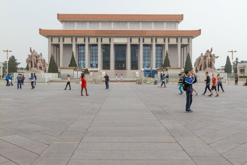 Мавзолей Мао Цзэдуна, Пекин, площадь Тяньаньмэнь