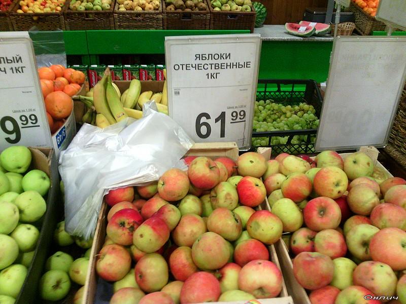 Блогерский контроль: изменение цен на яблоки во время санкций