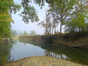 Утро туманное на реке Каверзе