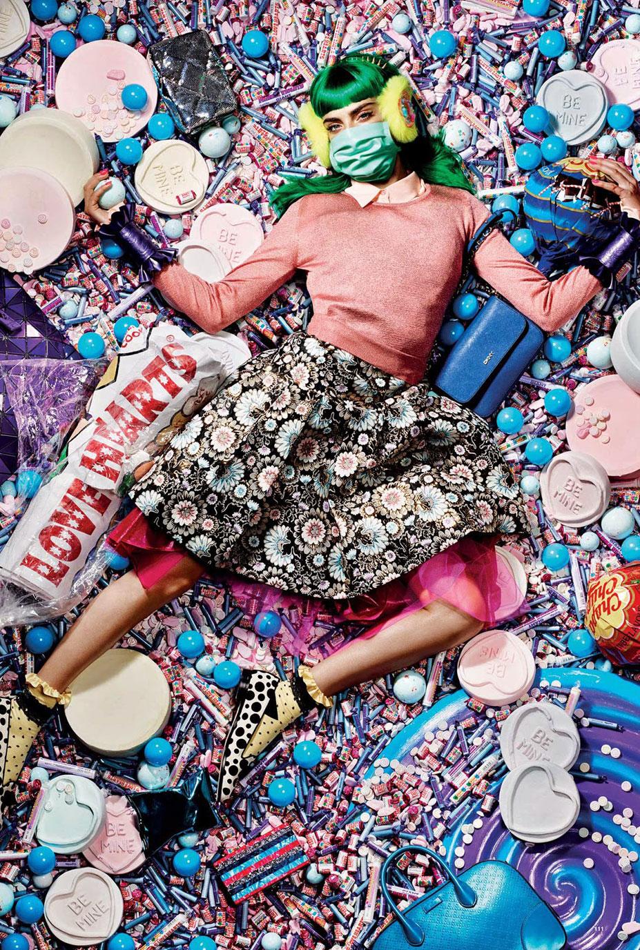 -конфетка- Кара Делавинь / Cara Delevingne by Liz Collins for Love-12 FW-2014