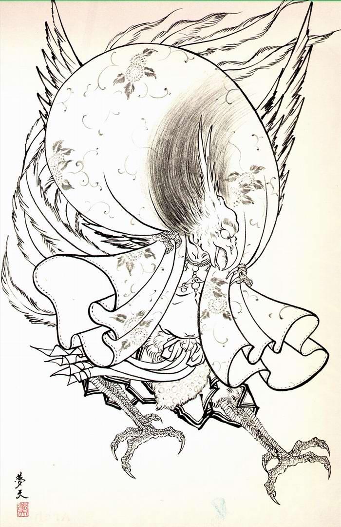 Злобные демоны на эскизах татуировок японского художника Horiyoshi (21)