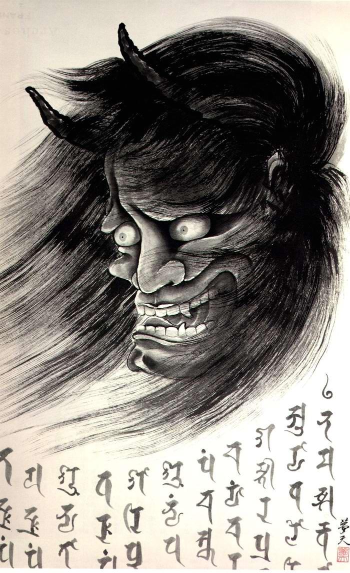 Злобные демоны на эскизах татуировок японского художника Horiyoshi (24)