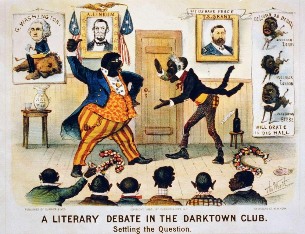 Литературные дебаты в дарктаунском клубе: постановка вопроса