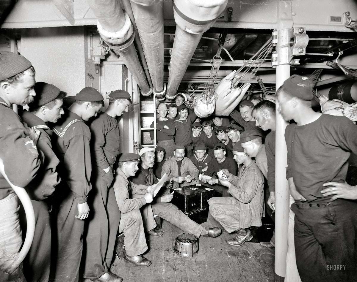 Корабли, речные суда и военные моряки на снимках американских фотографов конца 19 века (21)