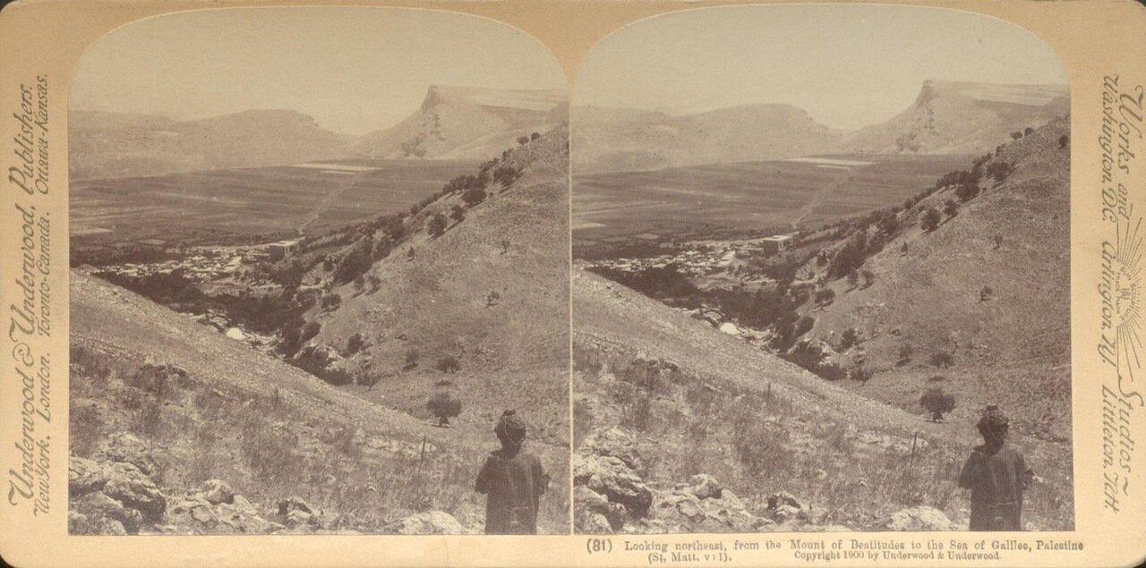 Вид с северо-востока на Кенерет. 1900
