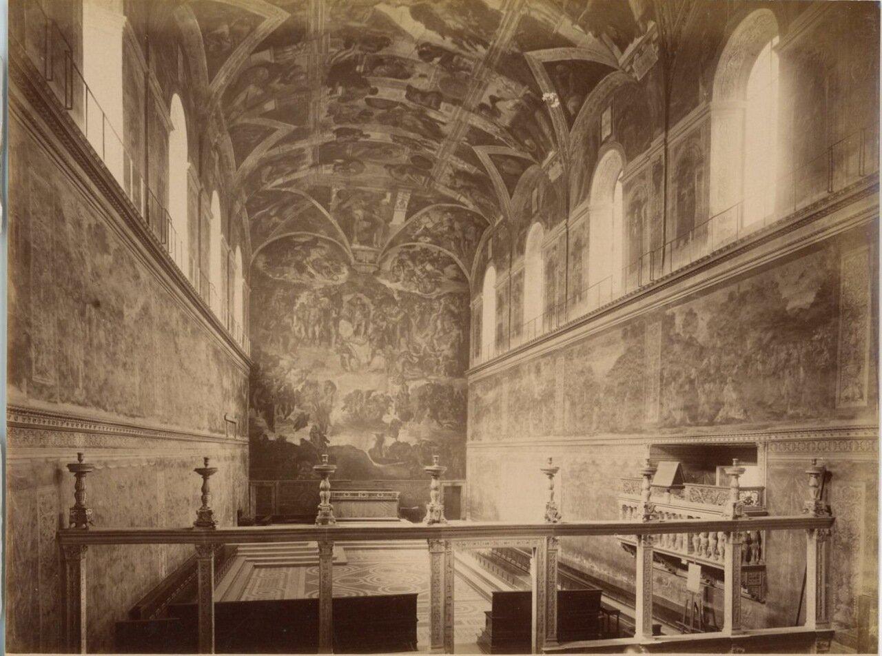 Интерьер Сикстинской капеллы Микеланджело. 1875.