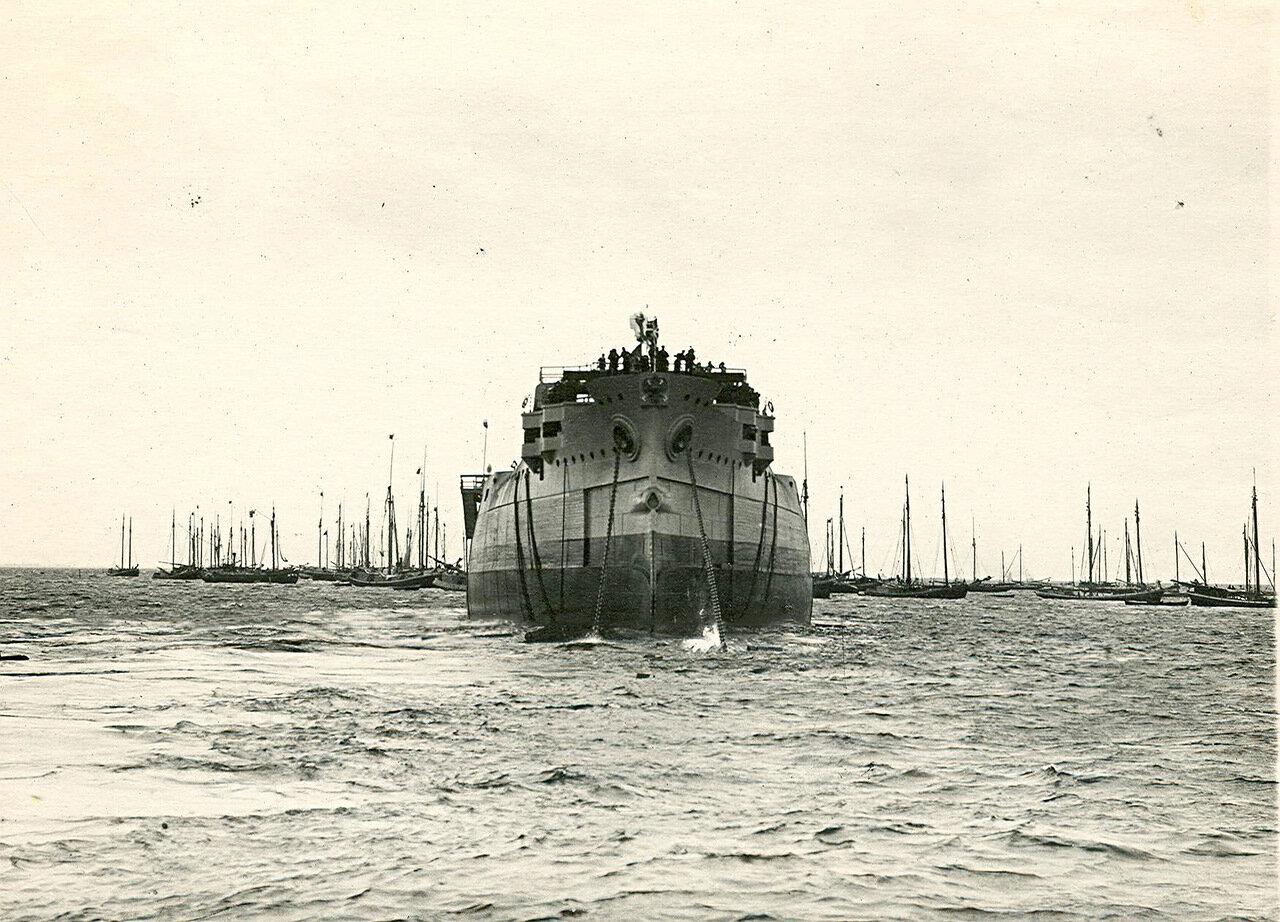 43. Броненосец «Император Павел I», спущенный на воду.  25 августа 1907