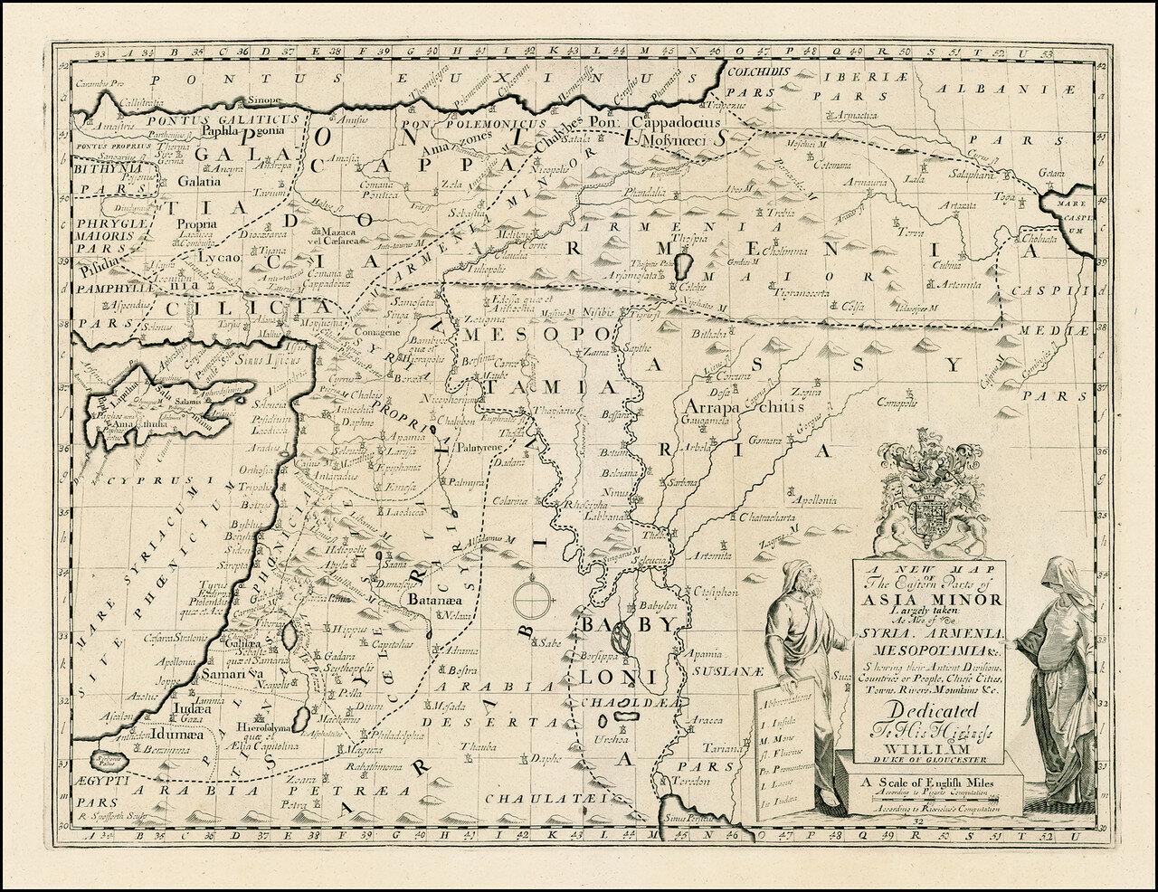 1712. Карта Ближнего и Среднего востока