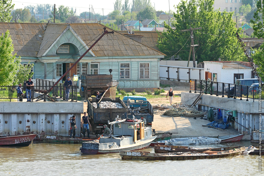 улов рыбаков в дельте Волги