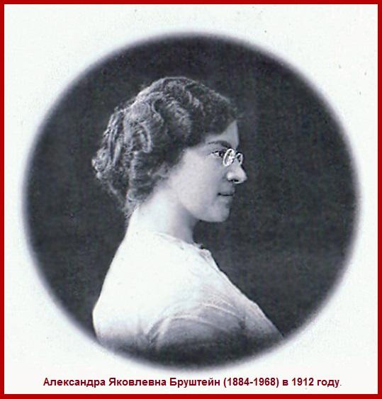 Александра Яковлевна Бруштейн в 1912 год