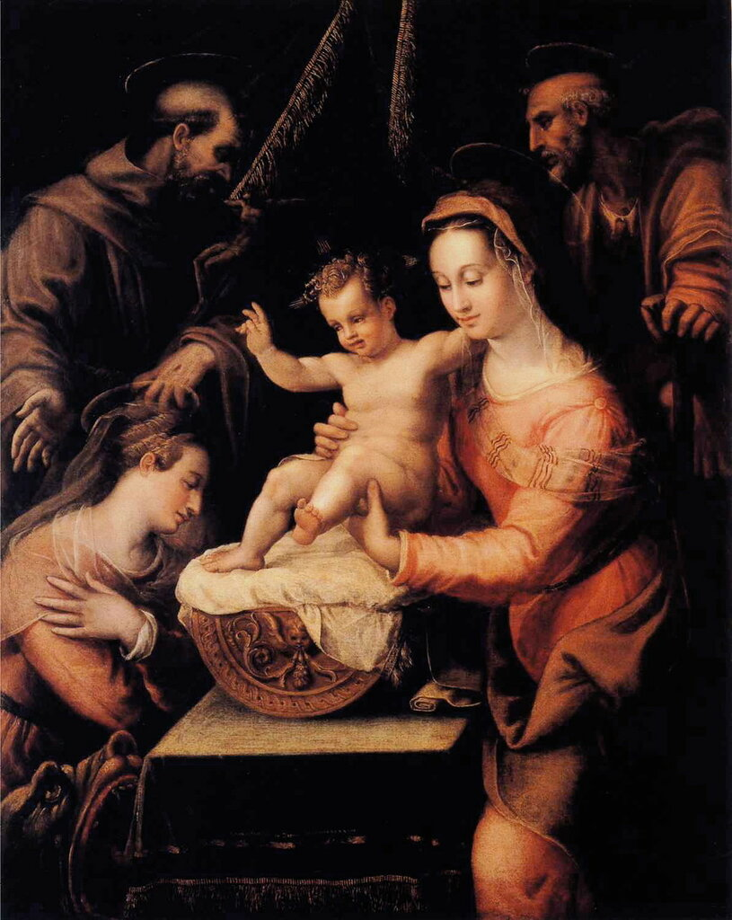 Lavinia_Fontana_-_Holy_Family_with_Saints 1578.jpg
