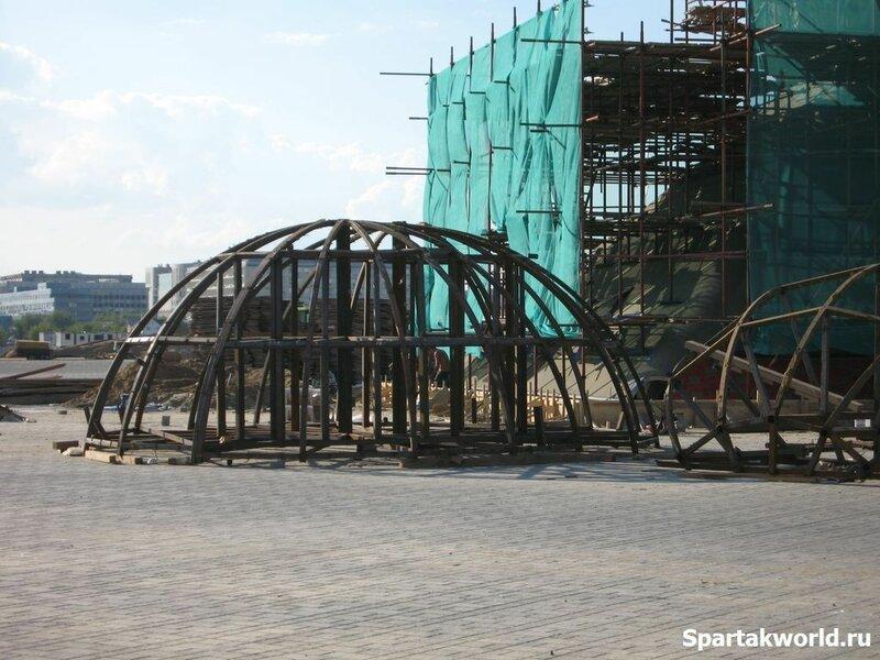 """Строительство стадиона """"Спартак"""". Начало августа 2014 года"""