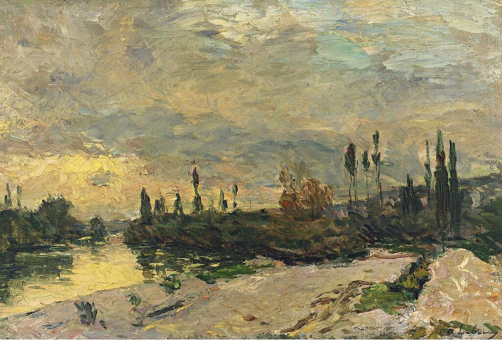 Albert Lebourg - The Sunset at the Seine near Vetheuil.jpeg