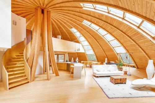 Энергоэффективный дом с функцией вращения