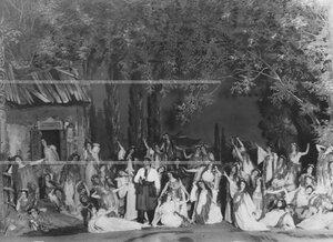 """Сцена на озере из 2-го действия оперы А.Н. Римского-Корсакова """"Майская ночь""""."""