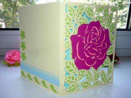Объемная открытка своими руками с розами из, открытки троицей