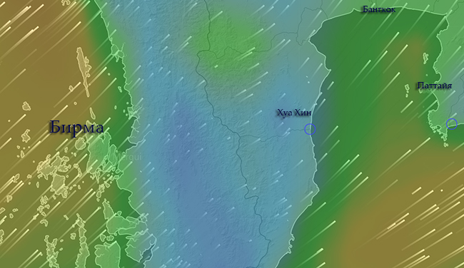 Wind map Thailand