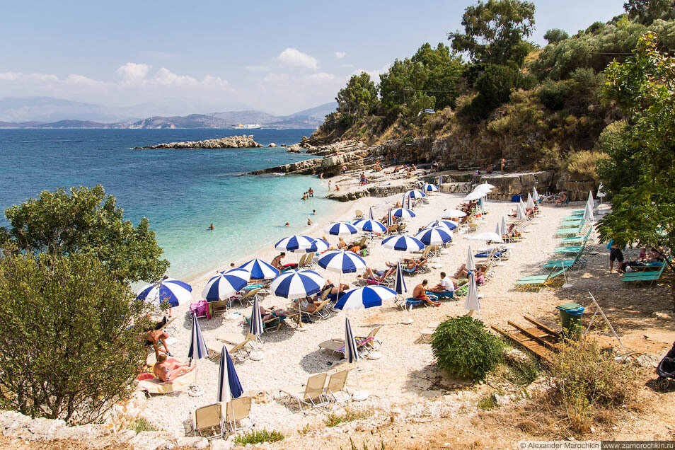 Белокаменный пляж в Кассиопи, Корфу
