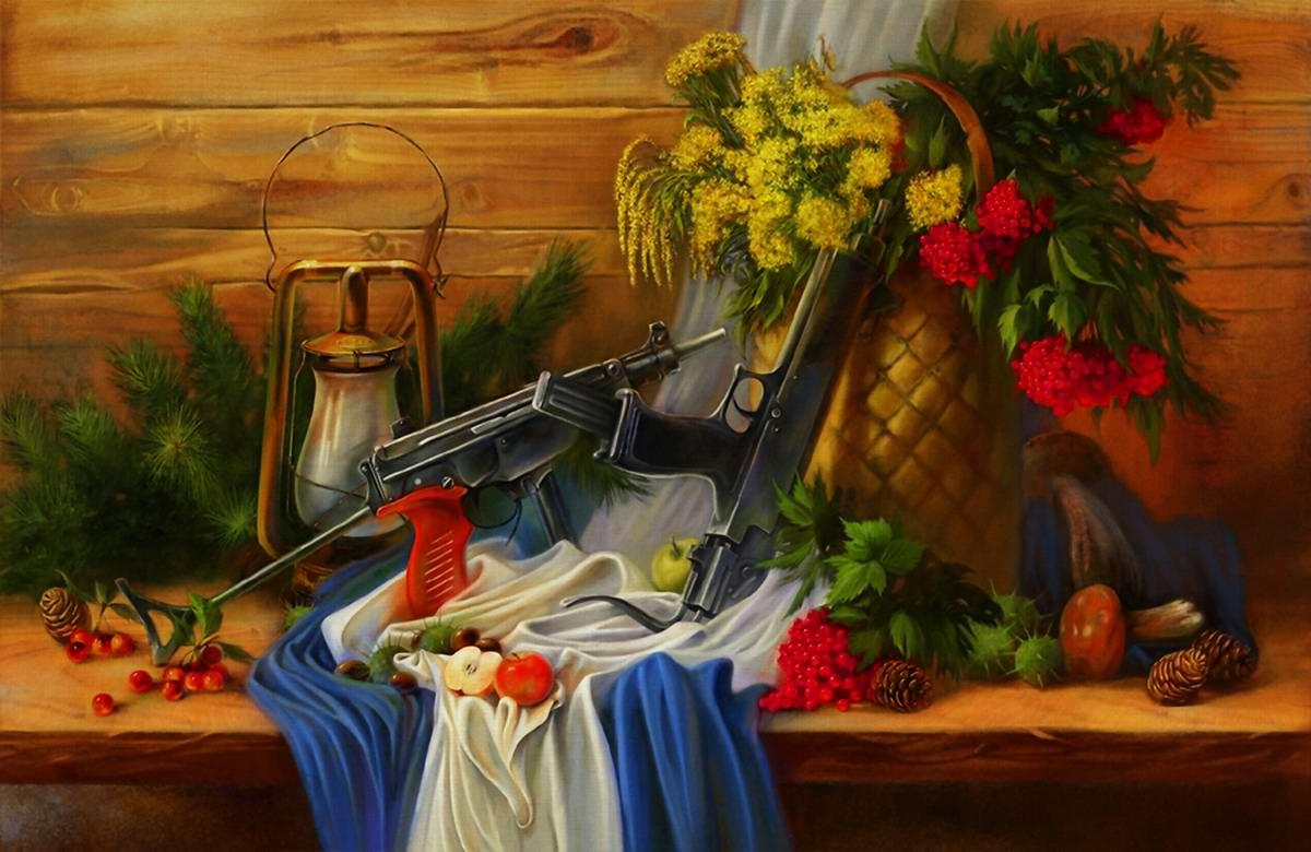 Оружейный натюрморт от студии Geliografic (9)