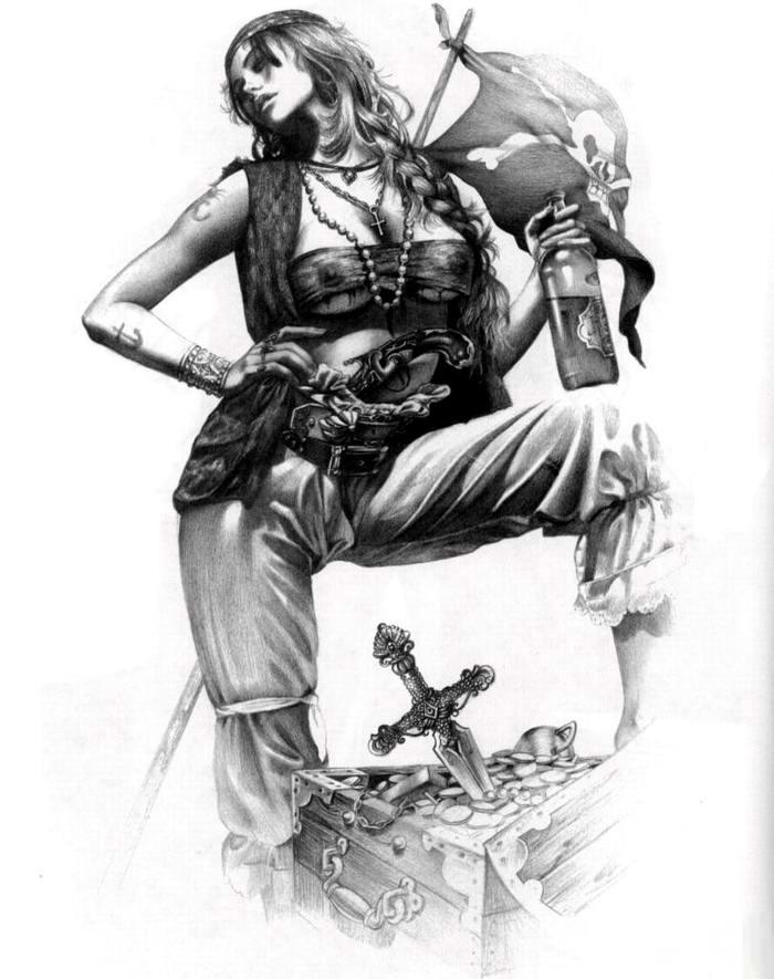 Графика: истории из жизни девушек - пираток (52)