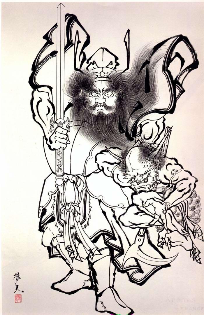 Злобные демоны на эскизах татуировок японского художника Horiyoshi (3)