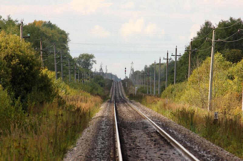Входной станции Оленино с Московской стороны