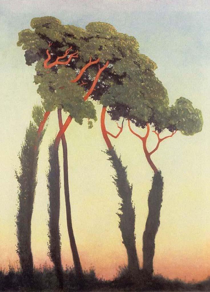 Последние лучи солнца. 1911, Феликс Валлотон (1865-1925)