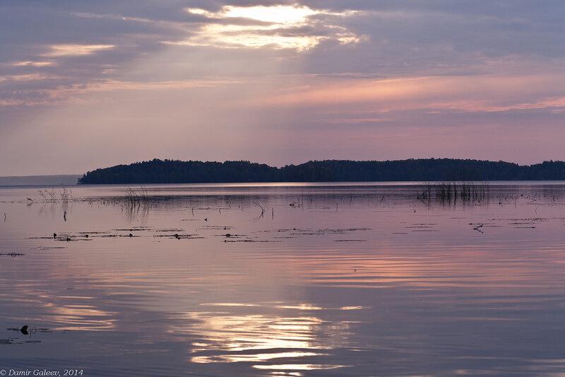 Рассвет на озере Увильды
