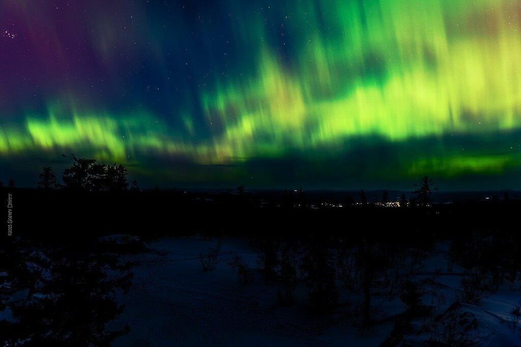 Полярное сияние. Фото Дмитрия Гостева