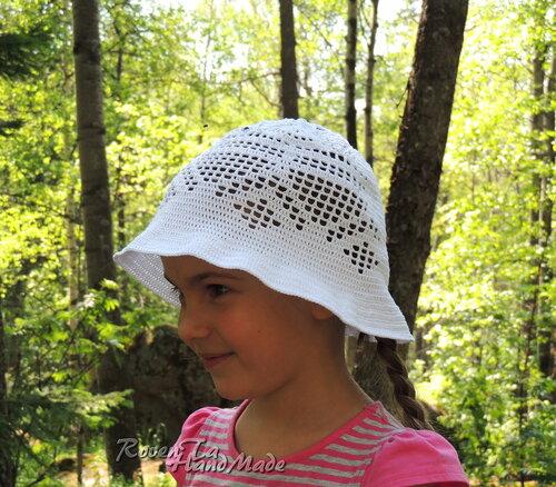 вязаная шляпка, шляпка крючком, шляпа крючком, шляпка для девочки, roventa-handmade
