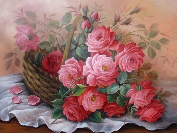 Я охапку цветов, будто вовсе не март... Брошу к вашим ногам,  как мальчишка. Художник Douglas Frasquetti