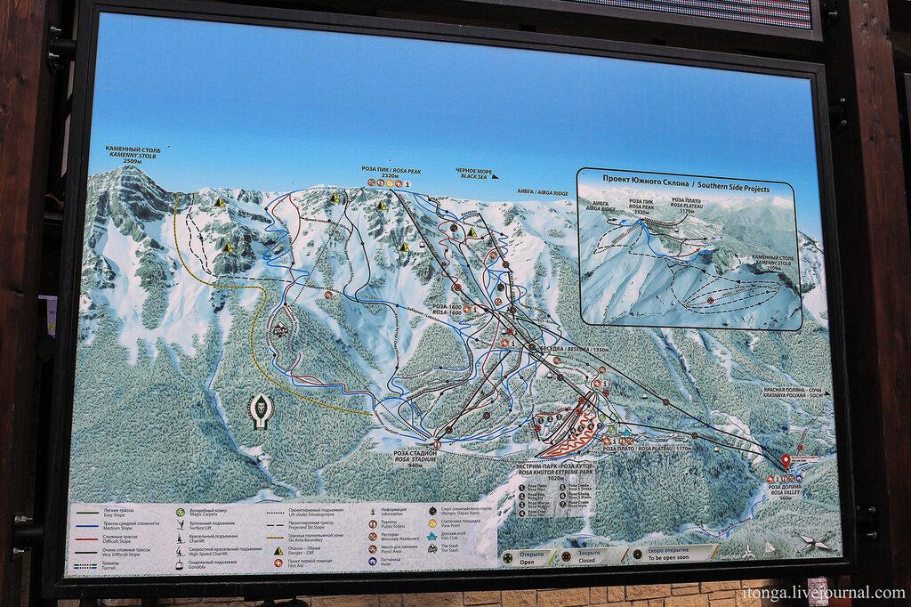 Карта Красной поляны