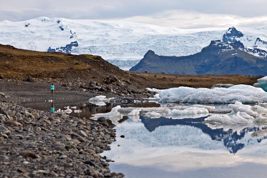 8. Тихий вечер у Ледниковой лагуны.