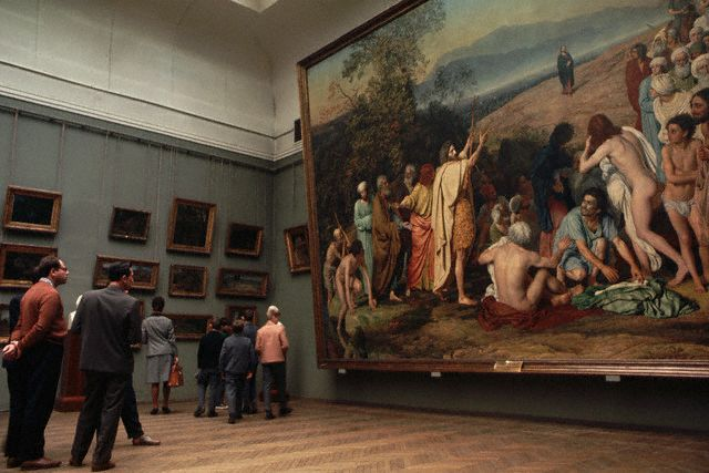 Ivanov's <The Appearance of Christ Before the People > in the Tretyakov Gallery
