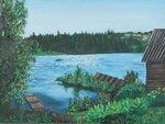 Дача на берегу реки
