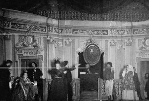 """""""Земский суд во время правления Александра II"""" - сцена из постановки живых исторических картин."""