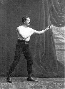 Участник чемпионата по классической борьбе и боксу Э.И.Лустало