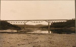 Вид моста вблизи станции. Виленская губ. Олита ст.
